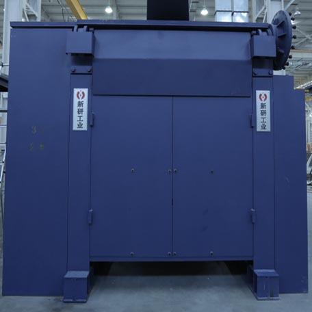Open steel frame furnace